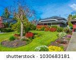 big custom made luxury house... | Shutterstock . vector #1030683181