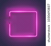 neon rectangle lamp wall sign... | Shutterstock .eps vector #1030693837