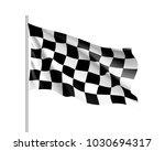 flag auto racing  waving... | Shutterstock . vector #1030694317