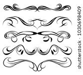 decorative monograms and... | Shutterstock .eps vector #1030698409