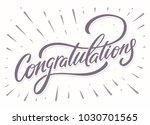 congratulations. greeting card. | Shutterstock .eps vector #1030701565