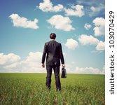 Businessman Standing In A Fiel...