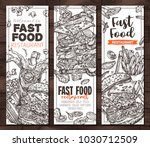 sketch vector fast food... | Shutterstock .eps vector #1030712509