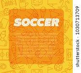 soccer design background.... | Shutterstock .eps vector #1030713709