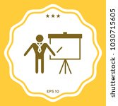 presentation sign icon. man... | Shutterstock .eps vector #1030715605