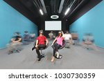 group of people having fun... | Shutterstock . vector #1030730359