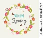 vintage spring typography... | Shutterstock .eps vector #1030730797