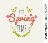 vintage spring label  flat... | Shutterstock .eps vector #1030733044