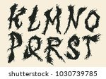 hand drawn liquid font and... | Shutterstock .eps vector #1030739785