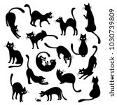 pretty cat illustration  i made ...   Shutterstock .eps vector #1030739809