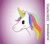 unicorn isolated on background. ... | Shutterstock .eps vector #1030740931