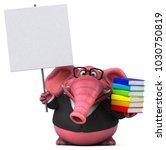 pink elephant   3d illustration | Shutterstock . vector #1030750819