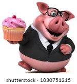 fun pig   3d illustration | Shutterstock . vector #1030751215