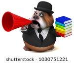 fun bulldog   3d illustration | Shutterstock . vector #1030751221