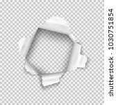torn paper realistic with... | Shutterstock .eps vector #1030751854