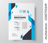 flyer brochure design template... | Shutterstock .eps vector #1030752649