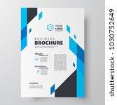 flyer brochure design template... | Shutterstock .eps vector #1030752649