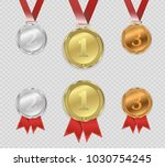 set of gold  bronze and silver. ... | Shutterstock .eps vector #1030754245