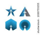 collection of plane logo... | Shutterstock .eps vector #1030755355