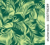 tropical plants pattern  i... | Shutterstock .eps vector #1030758289