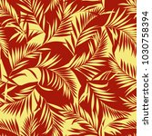tropical plants pattern  i... | Shutterstock .eps vector #1030758394