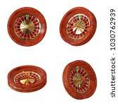 casino roulette wheel on a... | Shutterstock . vector #1030762939
