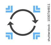 data synchronization icon | Shutterstock .eps vector #1030764811