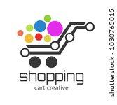 shopping cart logo design... | Shutterstock .eps vector #1030765015