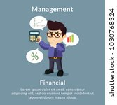 management financial description | Shutterstock .eps vector #1030768324
