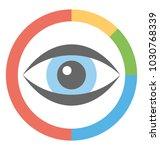 businessman with eye head ...   Shutterstock .eps vector #1030768339