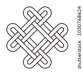 celtic knot geometric ancient... | Shutterstock .eps vector #1030768624