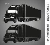 modern american truck vector...   Shutterstock .eps vector #1030772587