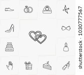 wedding line icon set | Shutterstock .eps vector #1030777567