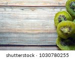 dried kiwi fruit isolated on... | Shutterstock . vector #1030780255