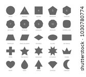 big set vector basic shape.... | Shutterstock .eps vector #1030780774