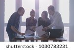 group of people at the working...   Shutterstock . vector #1030783231