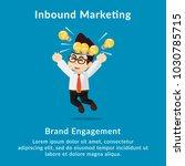 inbound marketing brand... | Shutterstock .eps vector #1030785715