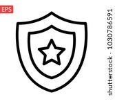 shield  guard icon vector ... | Shutterstock .eps vector #1030786591