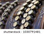 antique cash register  buttons... | Shutterstock . vector #1030791481