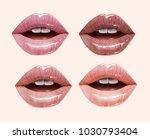 nude sensual juicy lips... | Shutterstock .eps vector #1030793404