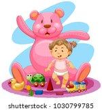 baby girl and pink teddybear...