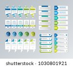 big infographic collection.... | Shutterstock .eps vector #1030801921