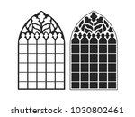 gothic windows. vintage frames. ... | Shutterstock .eps vector #1030802461