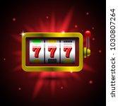 slot machine  icon. vector... | Shutterstock .eps vector #1030807264