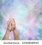 prayer message border... | Shutterstock . vector #1030808944
