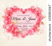 wedding card or invitation with ...   Shutterstock .eps vector #103081067
