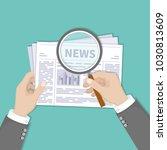 hot latest news. businessman... | Shutterstock . vector #1030813609