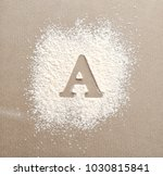 silhouette of letter a on... | Shutterstock . vector #1030815841