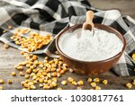 bowl with corn starch and... | Shutterstock . vector #1030817761