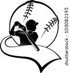 Girl Softball Batter With...